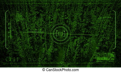 Nightvision POV Flying Past Snow Covered Mountainside -...