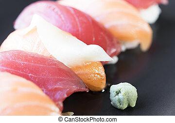 Nigiri Rolls with Wasabi