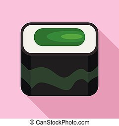 Nigiri sushi icon, flat style