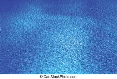 blue snowdrift at noght