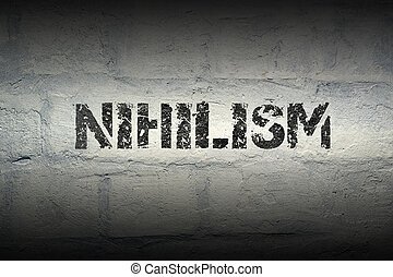 nihilism word gr - nihilism word stencil print on the grunge...