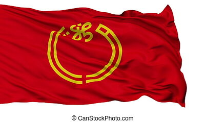 Niigata Prefecture Isolated Flag - Flag of Niigata...
