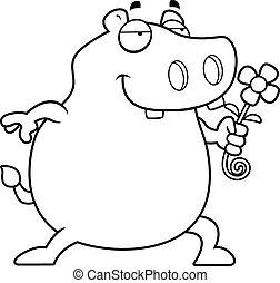 nijlpaard, bloem