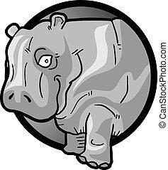 nijlpaard, dik