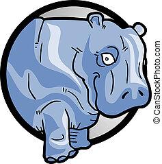 nijlpaard, pictogram