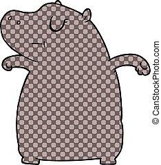 nijlpaard, spotprent