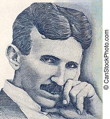 Nikola Tesla on 100 Dinara 2006 Banknote from Serbia. Best ...