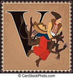 nikolai, alphabet., fairytale, bambini, vigilia, v., natale,...