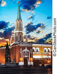 Nikolskaya tower of Moscow Kremlin