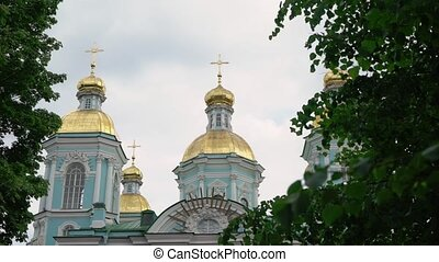 Nikolsky marine cathedral building in Saint-Petersburg