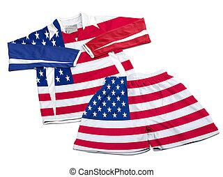 nilón, bandera de los e.e.u.u, futbol, ropa de deporte, ropa