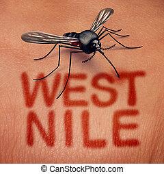 nil, maladie, ouest