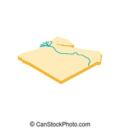 Nile river icon, isometric 3d style - Nile river icon in...