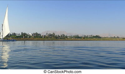 Nile river landscape - view from boat
