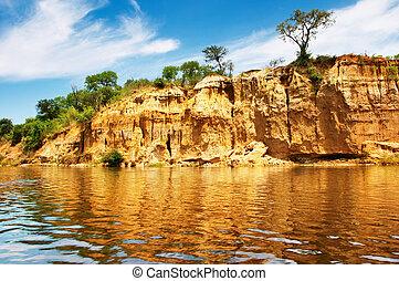 Nile River, Uganda - African landscape, Nile River, Uganda