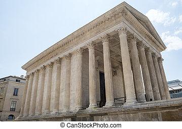 Nimes (Gard, Languedoc-Roussillon, France), Maison Carree, Roman temple built in the 1st century