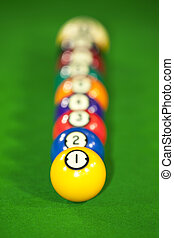 nine billiard balls