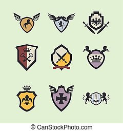 nine coats of arms