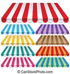 awning - nine colored awnings