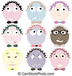 nine emoticons