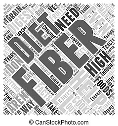 Nine Facts About Fiber Word Cloud Concept