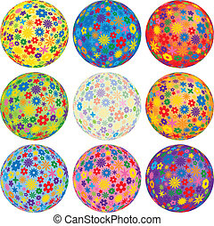 Nine Floral Balls to add to your designs
