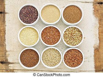 nine healthy, gluten free grains