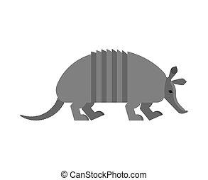 nine-hip, illustration., isolated., ベクトル, アルマジロ, 動物