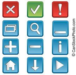 web icons isolated on white