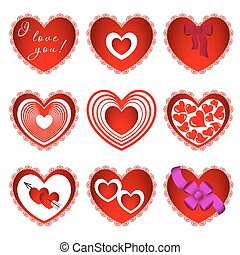 Nine of hearts in different design