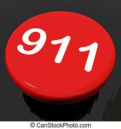 Nine One Button Shows Call Emergency Help Rescue 911