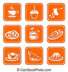 ornate food symbols