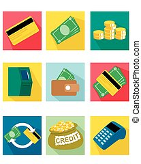 Nine payment icons