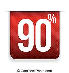 Nine percent off ribbon red