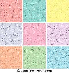 Nine Polka Dot Patterns