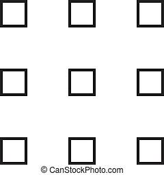 Nine squares on transparency background