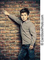 nine year old boy - Kid's fashion. Modern nine year old boy...