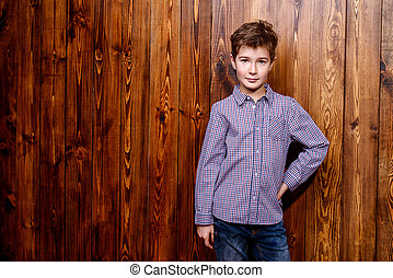nine year old boy - Portrait of a cute nine year old boy...