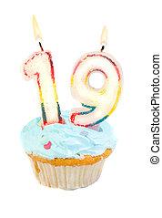 nineteeth, cumpleaños, cupcake