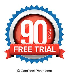 Ninety days free trial badge