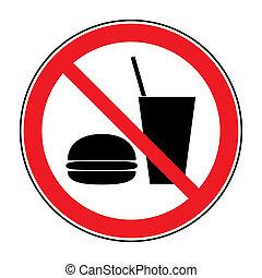 ningún alimento, bebida