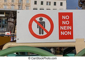 ningunas personas, señal