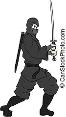 ninja, épée, illustration