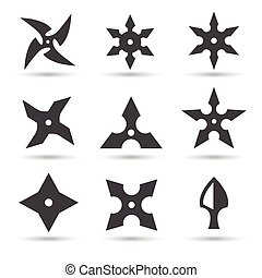 Style toile arme ninja ic ne shuriken dessin anim - Shuriken dessin ...