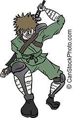 Ninja attack - Creative design of ninja attack