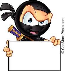 ninja, carácter, furtivo
