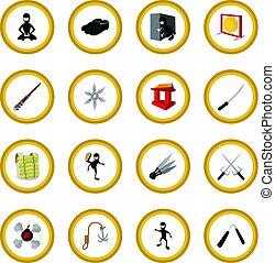 Ninja cartoon icon circle