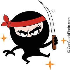 Ninja Cartoon Vector