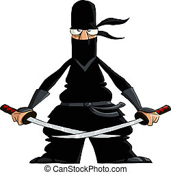 Ninja on a white background, vector illustration
