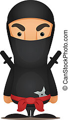 Ninja - Cute Cartoon Character